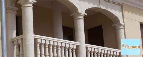 piedra artificial porches madera cymavi destacado