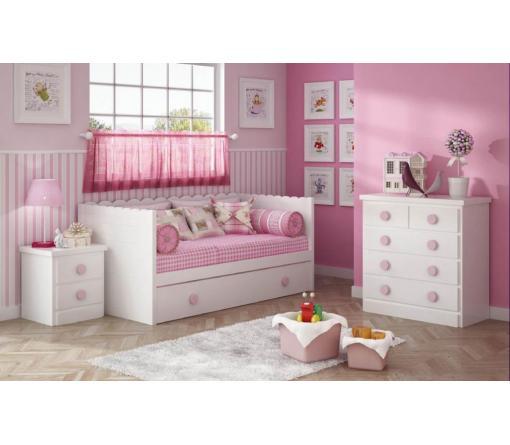 Dormitorios infantiles lacados en blanco de muebles - Camas nido infantiles merkamueble ...