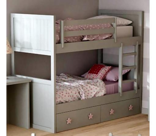 Dormitorios infantiles lacados en blanco de camas - Literas lacadas en blanco ...