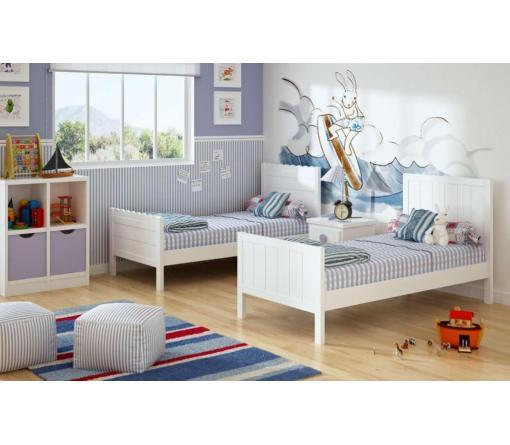 Dormitorios infantiles lacados en blanco de muebles for Dormitorios infantiles madrid