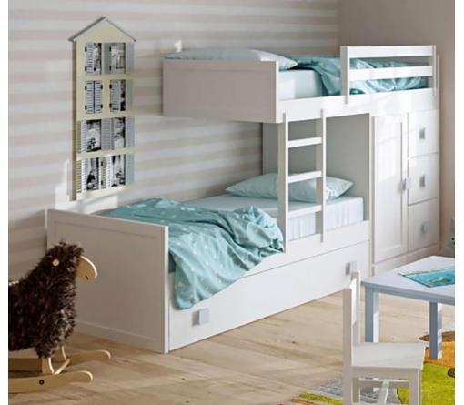Camas infantiles blancas dormitorios infantiles - Camas infantiles blancas ...
